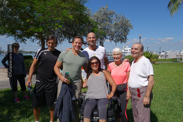 Russell Hartstein and Steve Guttenberg and friends in miami beach